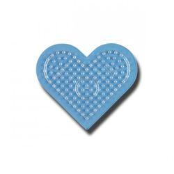 HAMA midi Bügelperlen-Stiftplatte klar Nr.236TR Herz klein