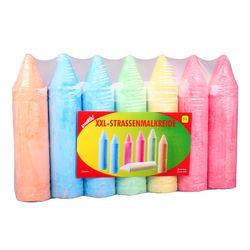 kreaktiv Straßenmalkreide Kreide XXL 7 Stücke Riesen-Spielkreide in 5 Farben