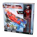 Hasbro Marvel A7363 Avengers Titan Heroes Action Figur IRON MAN mit Battle Racer
