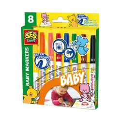 SES Creative 00299 MY FIRST Kreativ-Packung BABY MARKERS Erste Filzstifte