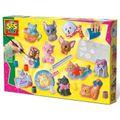 SES Creative 01154 Bastel-Set Kreativ-Packung Gips HUNDE KATZEN gießen und malen
