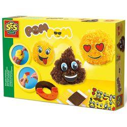SES Creative 14966 Bastel-Set Kreativ-Packung POM POM Emoji EMOTICONS
