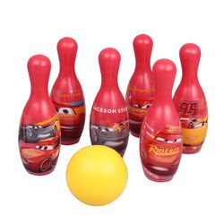 Mondo 18821 Disney CARS 3 Kinder-Bowlingspiel Kegelspiel mit 6 Kegeln und Kugel