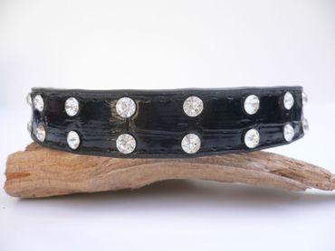 Hundehalsband STRASS-Reihe Hunde Halsband   Straßhalsband Strass  in 5 Farben – Bild 4