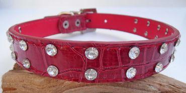Hundehalsband STRASS-Reihe Hunde Halsband   Straßhalsband Strass  in 5 Farben – Bild 6