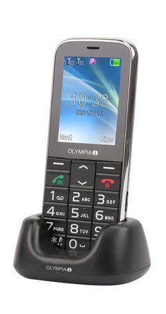 Senioren Handy OLYMPIA Joy 2 schwarz große Tasten Mobiltelefon Hörgerätekomp. – Bild 1