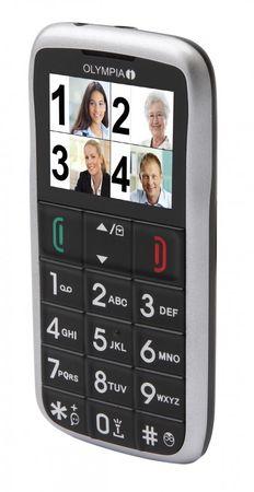 Senioren Handy OLYMPIA Vox colour schwarz große Tasten Mobiltelefon Ladeschale – Bild 2