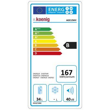 HKoenig AGE12WV 2 Zonen Weinkühlschrank für 12 Flaschen, EEK B (Spektrum: A+++ bis D) – Bild 2