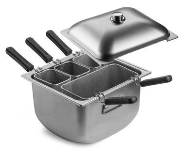 PINTINOX SPEEDY PASTA Nudelkocher mit 3 kleinen 1 großen Einsatz und Deckel