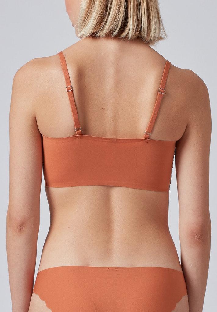 Skiny Damen Bustier herausnehmbare Pads Micro Lovers Burnt Orange 36 38 40 42 44