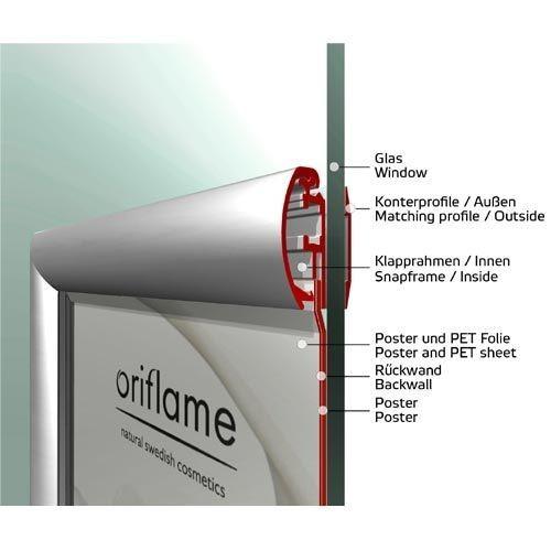Klapprahmen für Fenster beidseitig DIN A1 32mm Profil - Bild 2 (vergrößert)