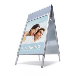 Kundenstopper COMPASSO DIN A1 m. Logoplatte