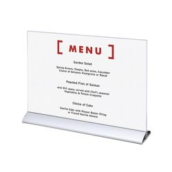 Tischaufsteller / Menükartenhalter Alu DIN A3 (Querformat) – Bild 1