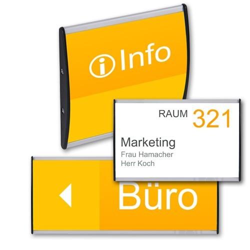 Türschild / Hinweisschild CURVED 210 x 300 mm - Bild 2 (vergrößert)