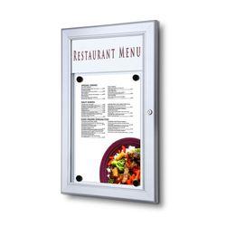 Schaukasten Z-Line 1 x DIN A4 für Speisekarten