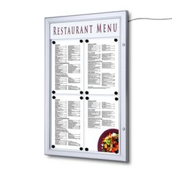 Schaukasten Z-Line LED 4 x DIN A4 für Speisekarten