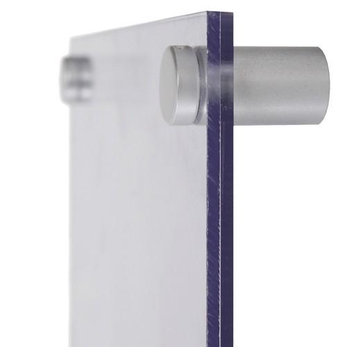 Beschilderung Acryl DIN A5 mit Alu-Wandhalter 19 mm