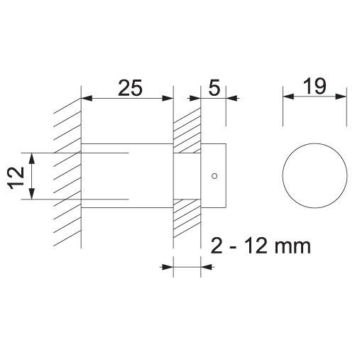 Alu-Abstandhalter für individuelle Beschilderung 19 mm - Bild 3 (vergrößert)