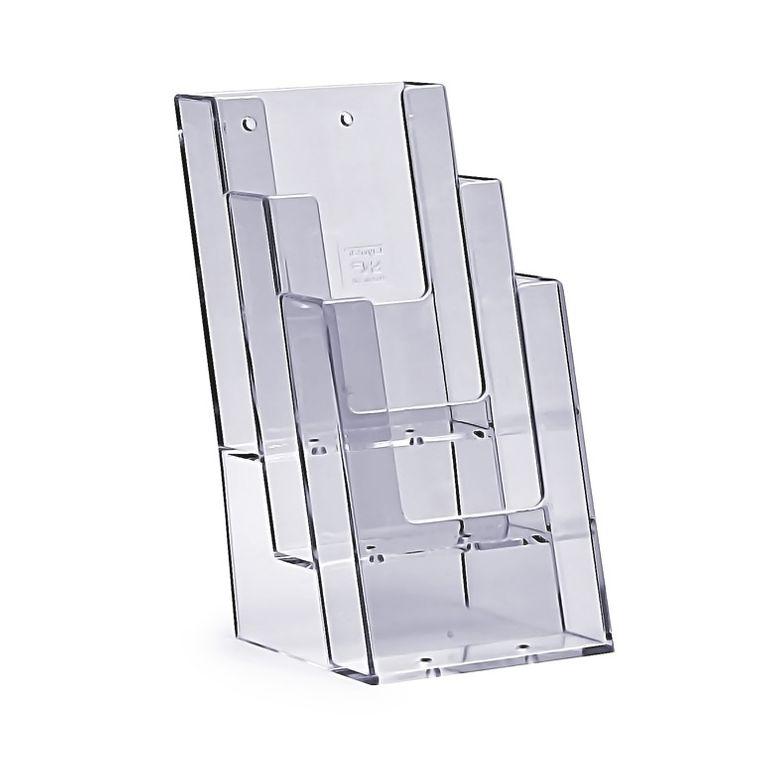 Stand-/Wandprospekthalter DIN lang dreistufig 3C104 (20)
