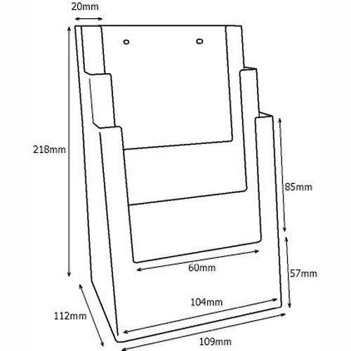 Stand-/Wandprospekthalter DIN lang dreistufig 3C104 (20) - Bild 3 (vergrößert)