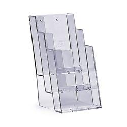 Stand-/Wandprospekthalter DIN lang dreistufig 3C104 (20) – Bild 1