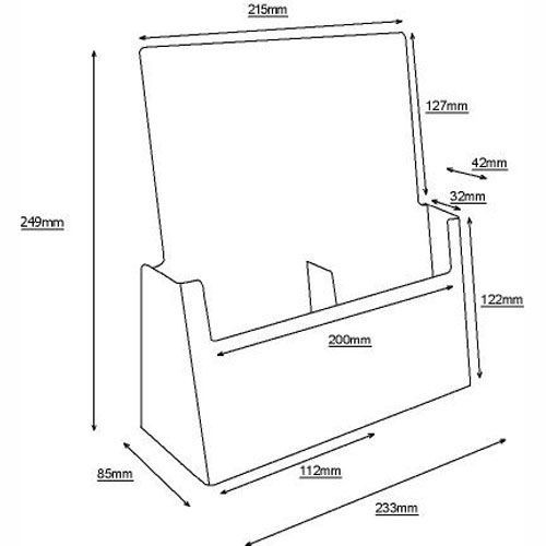 Standprospekthalter DIN lang zweifach 2C112 (36) - Bild 3 (vergrößert)