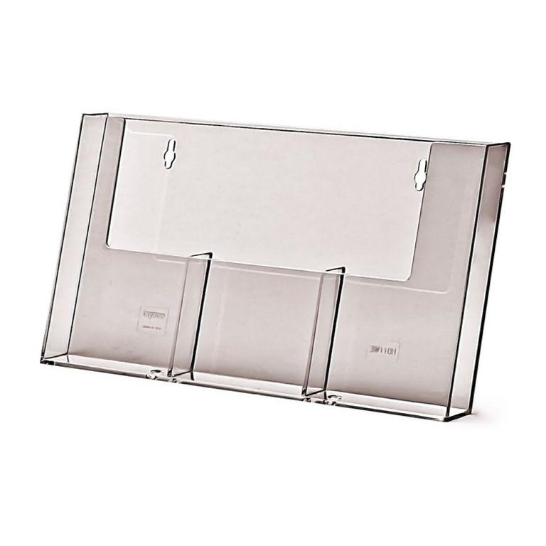 Wandprospekthalter DIN lang/DIN A6 dreifach 3W110H (36)