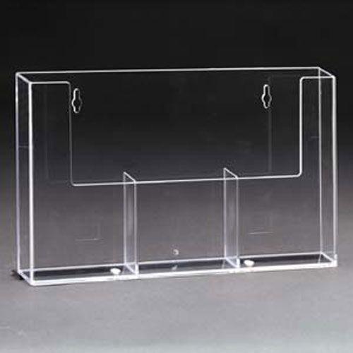 Wandprospekthalter DIN lang/DIN A6 dreifach 3W110H (36) - Bild 2 (vergrößert)