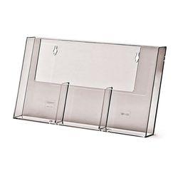 Wandprospekthalter DIN lang/DIN A6 dreifach 3W110H (36) – Bild 1
