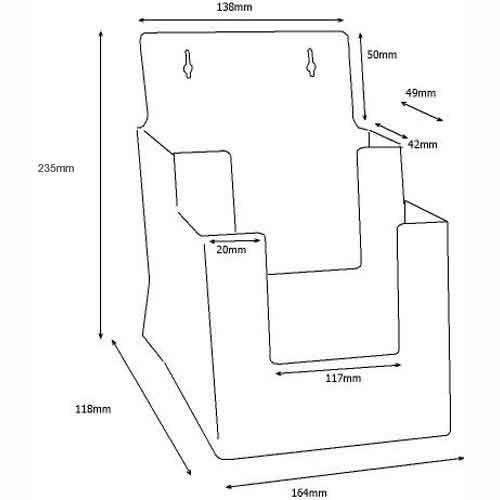 Stand-/Wandprospekthalter DIN A5 zweistufig 2C160 (24) - Bild 3 (vergrößert)