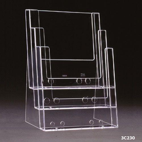 Standprospekthalter DIN A4 dreistufig 3C230 (12) - Bild 2 (vergrößert)