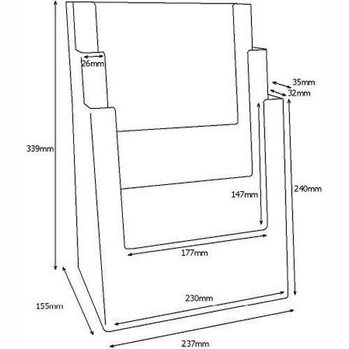 Standprospekthalter DIN A4 dreistufig 3C230 (12) - Bild 3 (vergrößert)