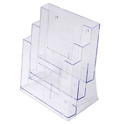 Stand-/ Wandprospekthalter DIN A4 dreistufig 3DA4P (16)