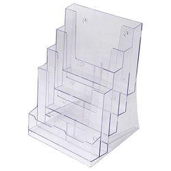 Stand-/ Wandprospekthalter DIN A4 vierstufig 4DA4P (12) – Bild 1