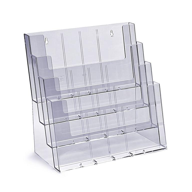 Stand-/Wandprospekthalter DIN A4/A5/lang vierstufig 4C330 (8) - Bild 2 (vergrößert)