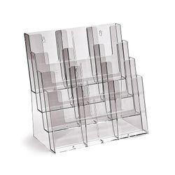 Stand-/Wandprospekthalter DIN A4/A5/lang vierstufig 4C330 (8)