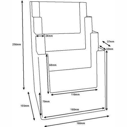 Prospektständer DIN A5 vierstufig MB4C160 - Bild 3 (vergrößert)