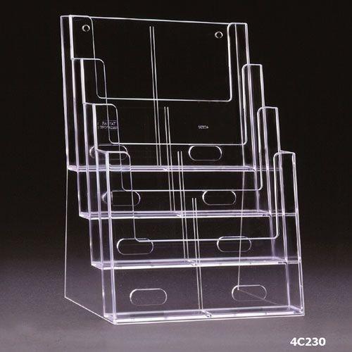 Standprospekthalter DIN A4 / DIN lang vierstufig 4C230 (8) - Bild 2 (vergrößert)
