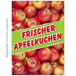 Plakat frischer Apfelkuchen