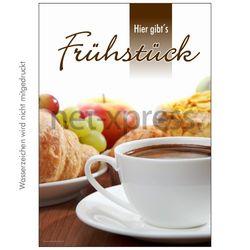 Plakat Hier gibt's Frühstück