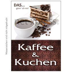 Plakat Kaffee und Kuchen