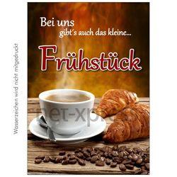 Werbeplakat für Frühstück