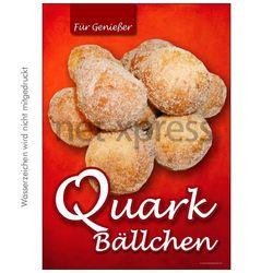Plakat Quarkbällchen