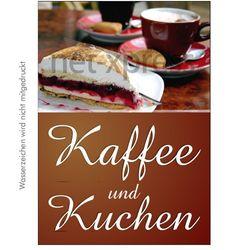Werbeplakat für Cafe