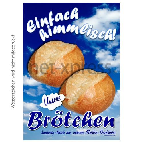 Brötchen-Plakat für Bäckerei DIN A0 A1 A2 A3