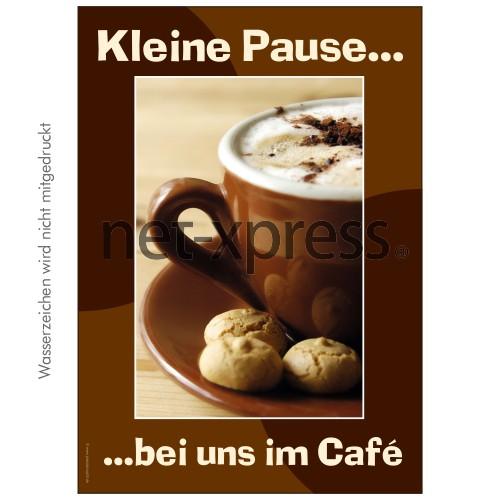 Café-Plakat für Plakatständer DIN A0 A1 A2 A3
