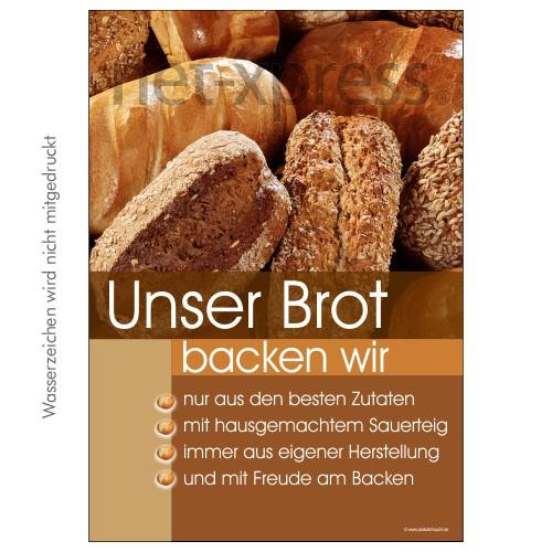 Brot-Plakat für Bäckereiwerbung DIN A0 A1 A2 A3
