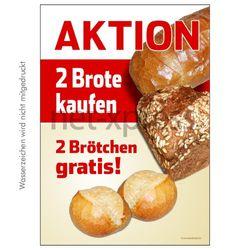 Aktionsplakat für Bäckerei