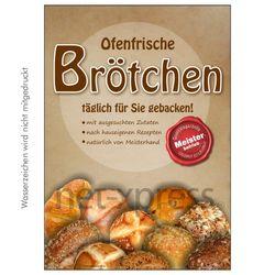 Brötchen-Werbeposter für Bäckerei