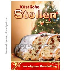 Plakat Stollen aus der Bäckerei